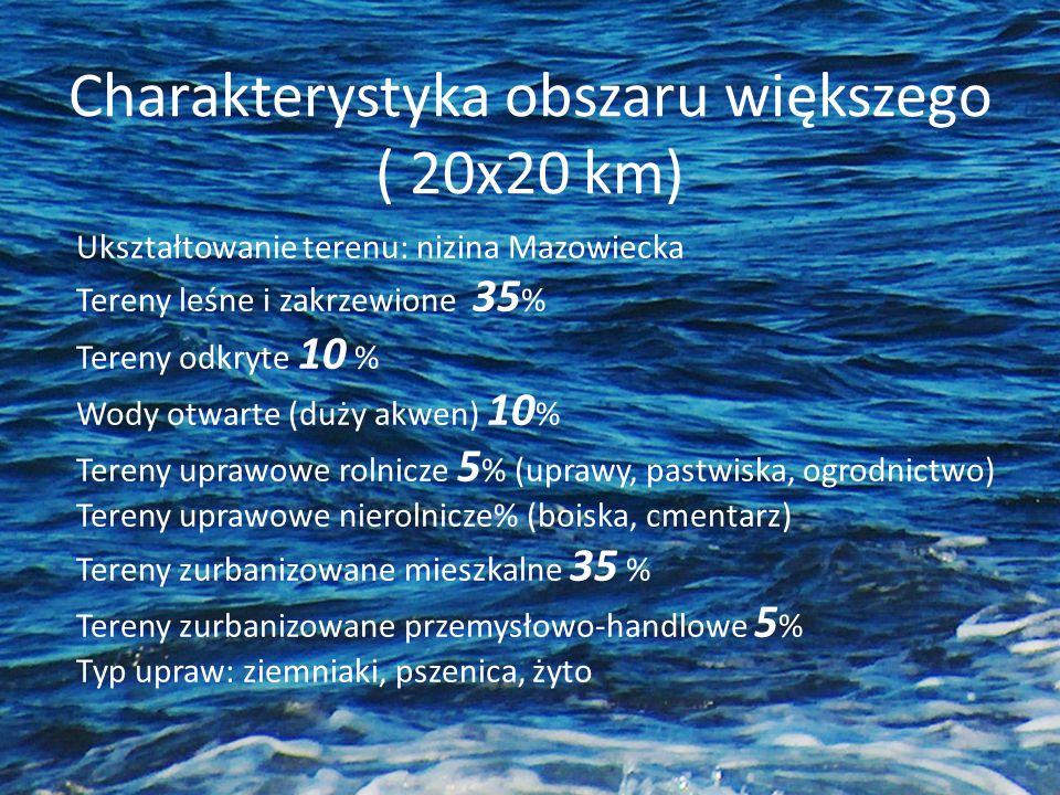 ( 20x20 km) Ukształtowanie terenu: nizina Mazowiecka