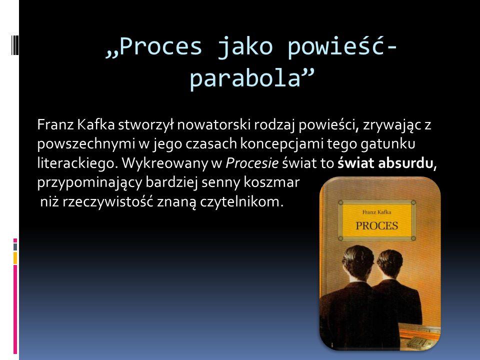 """""""Proces jako powieść-parabola"""