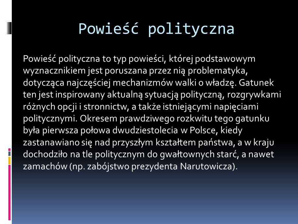 Powieść polityczna