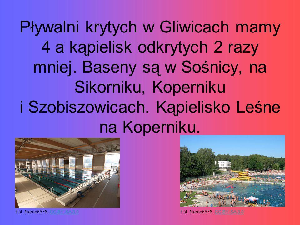 Pływalni krytych w Gliwicach mamy 4 a kąpielisk odkrytych 2 razy mniej