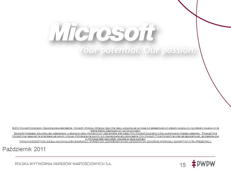 © 2010 Microsoft Corporation. Wszystkie prawa zastrzeżone