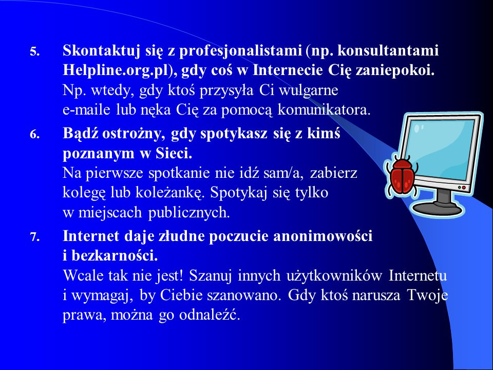 Skontaktuj się z profesjonalistami (np. konsultantami Helpline. org