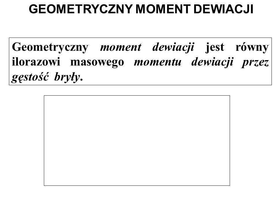 GEOMETRYCZNY MOMENT DEWIACJI