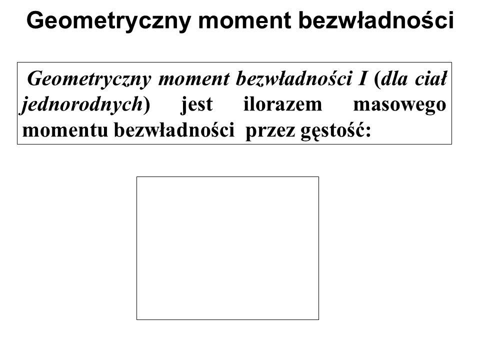 Geometryczny moment bezwładności
