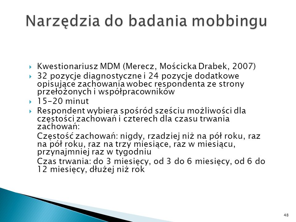 Narzędzia do badania mobbingu