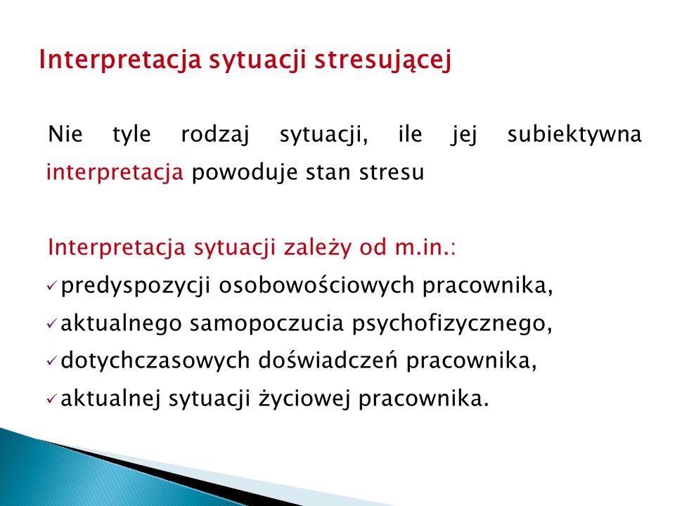 Interpretacja sytuacji stresującej