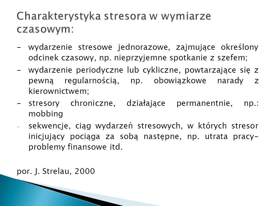 Charakterystyka stresora w wymiarze czasowym: