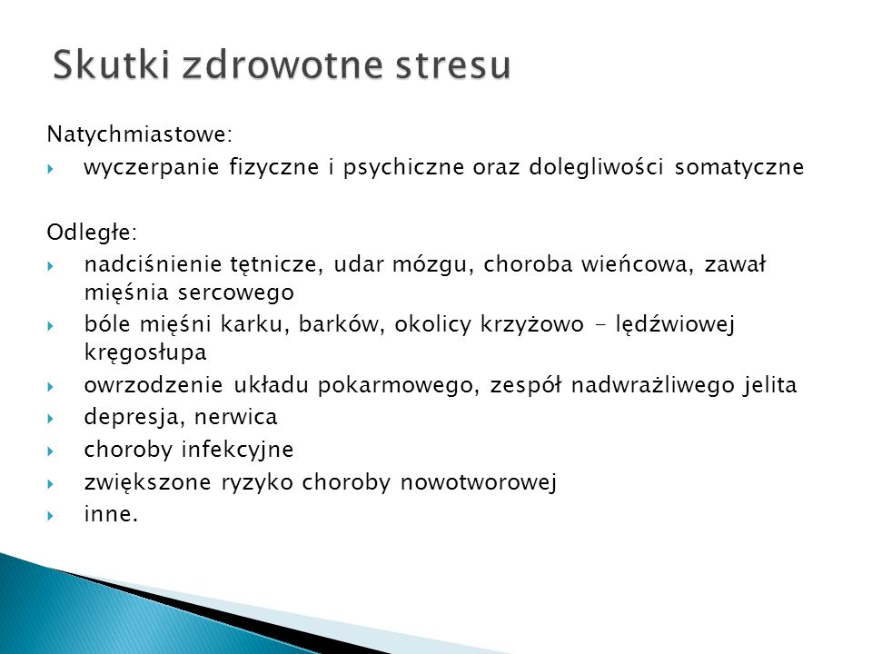 Skutki zdrowotne stresu