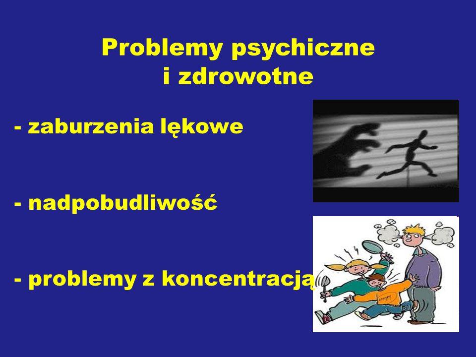 Problemy psychiczne i zdrowotne