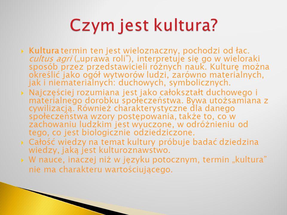 Czym jest kultura