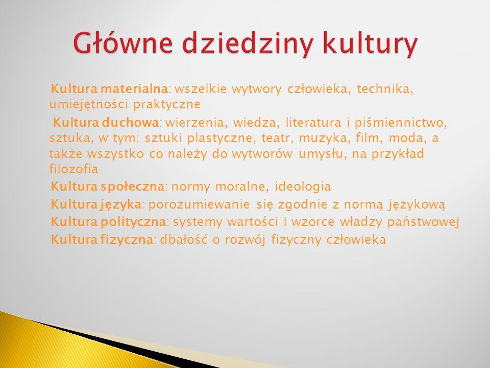 Główne dziedziny kultury