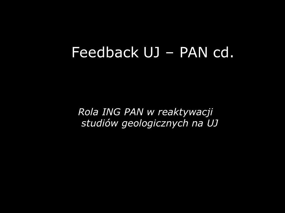 Feedback UJ – PAN cd. Rola ING PAN w reaktywacji