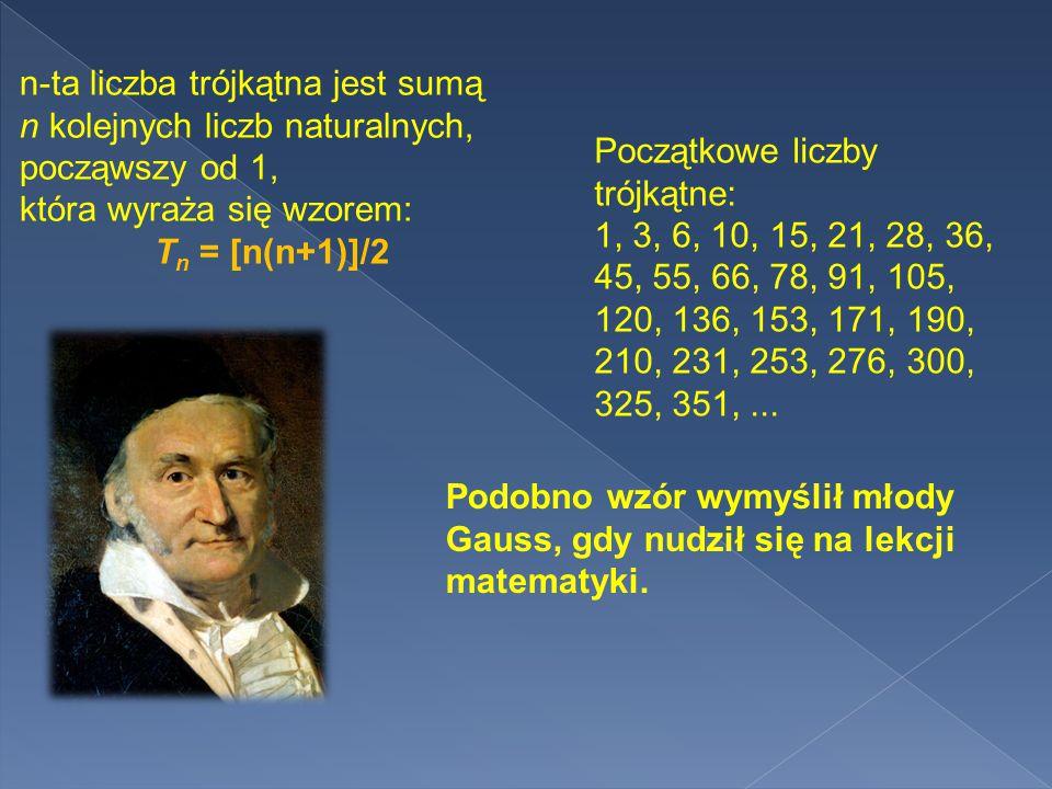 n-ta liczba trójkątna jest sumą