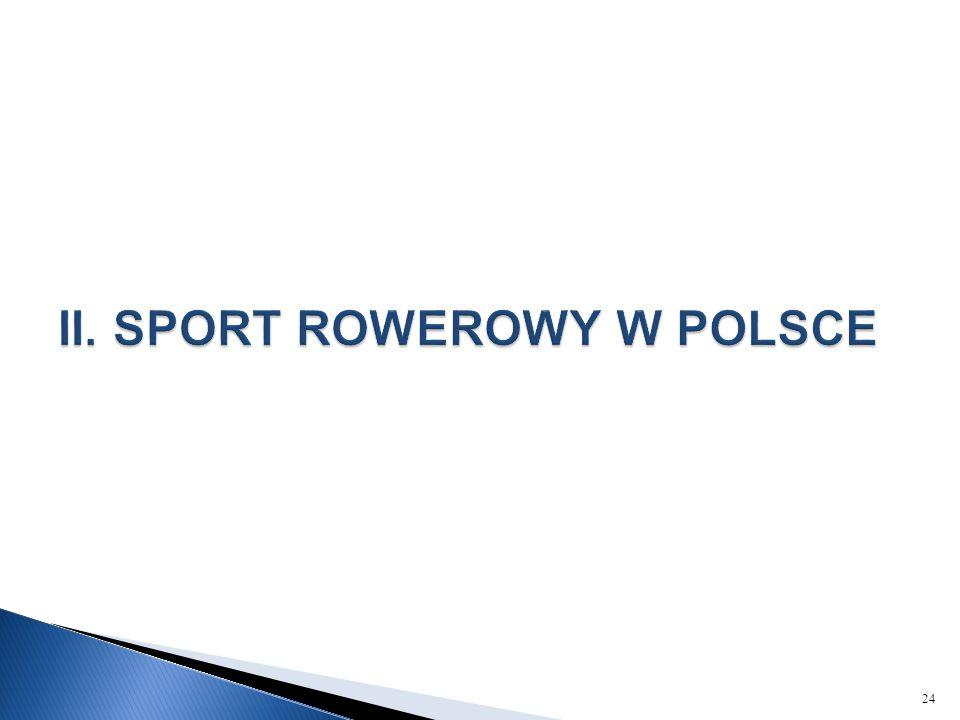 II. SPORT ROWEROWY W POLSCE