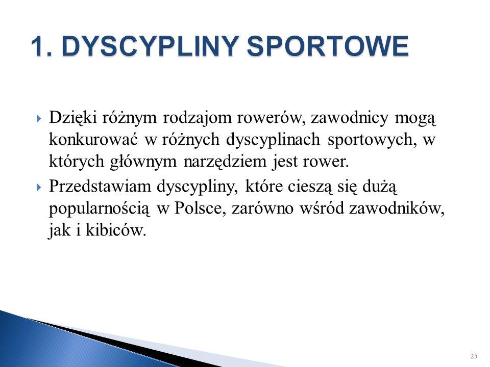 1. DYSCYPLINY SPORTOWE
