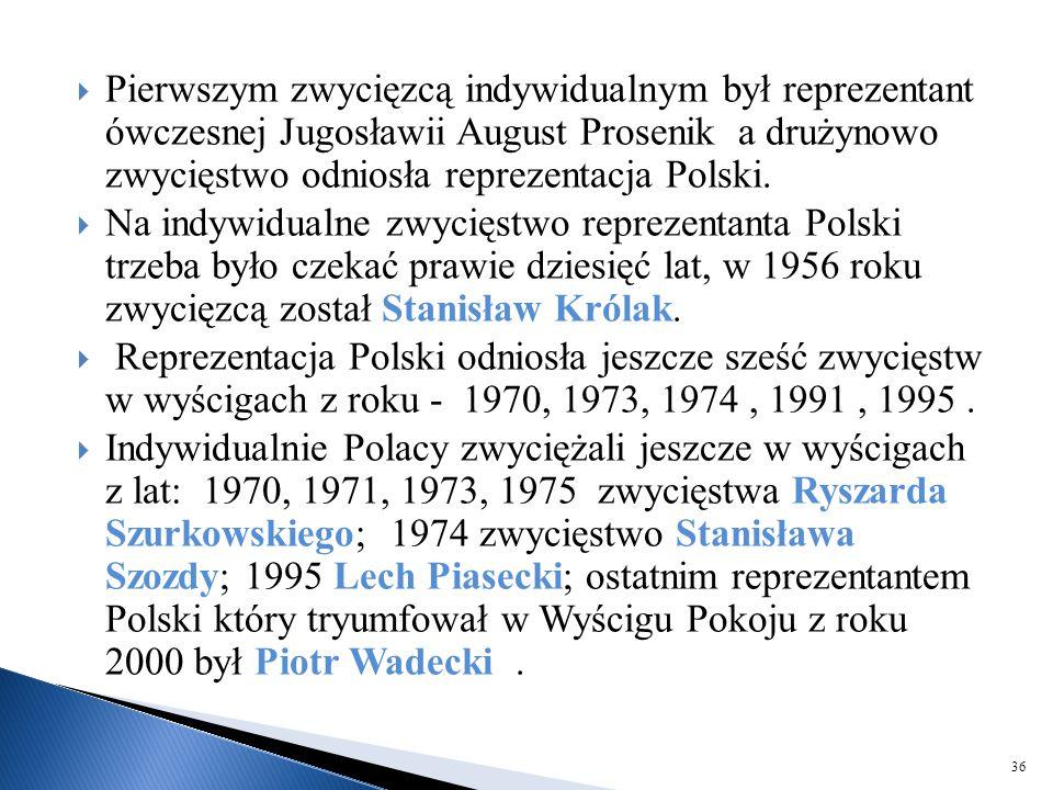 Pierwszym zwycięzcą indywidualnym był reprezentant ówczesnej Jugosławii August Prosenik a drużynowo zwycięstwo odniosła reprezentacja Polski.