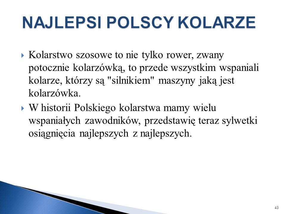 NAJLEPSI POLSCY KOLARZE