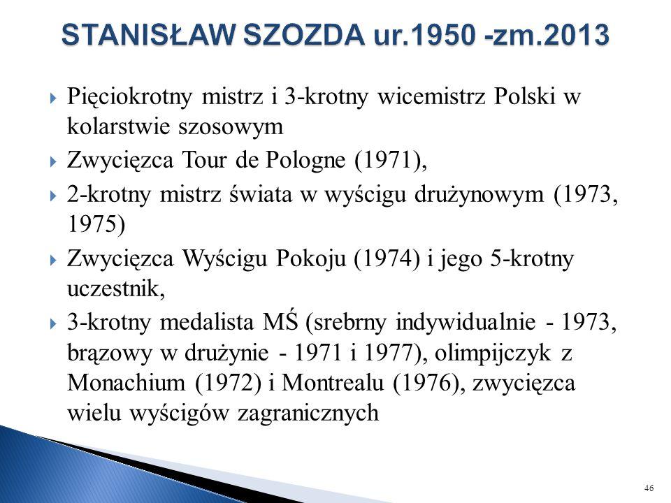 STANISŁAW SZOZDA ur.1950 -zm.2013