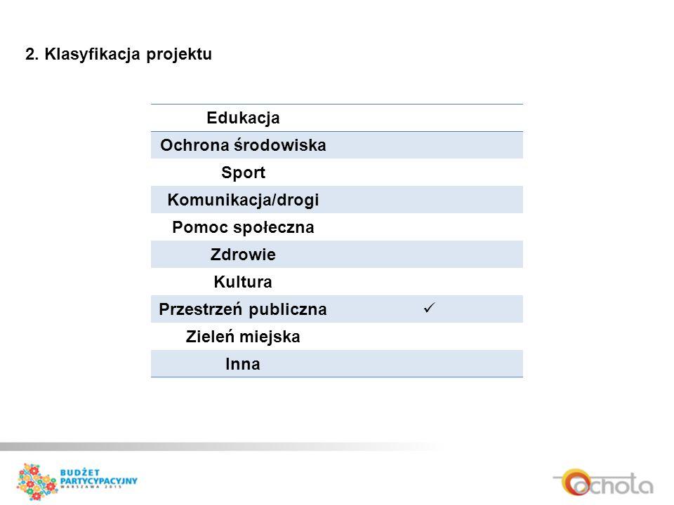 2. Klasyfikacja projektu
