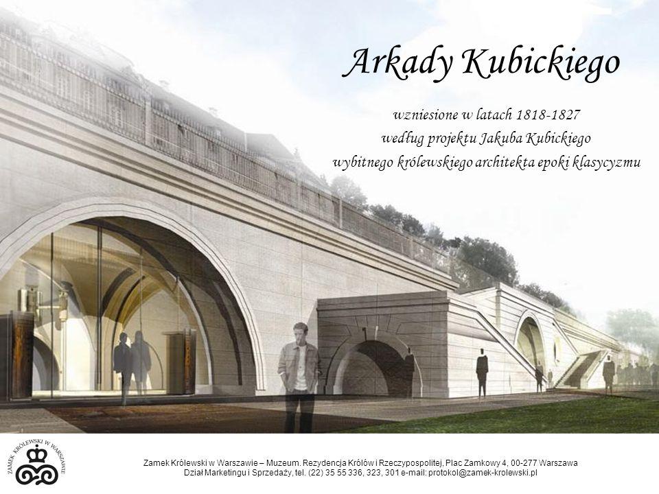 Arkady Kubickiego wzniesione w latach 1818-1827 według projektu Jakuba Kubickiego wybitnego królewskiego architekta epoki klasycyzmu