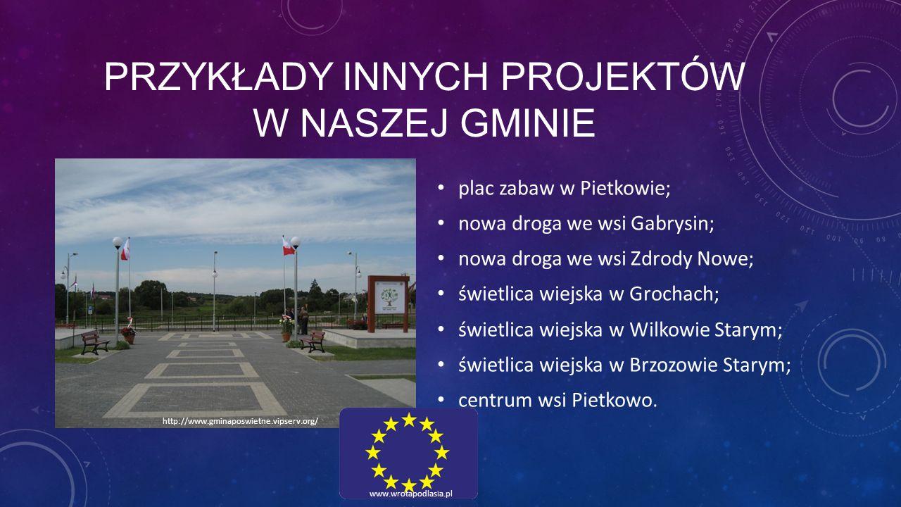 przykłady innych projektów w naszej gminie