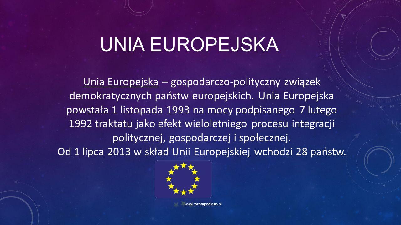 Od 1 lipca 2013 w skład Unii Europejskiej wchodzi 28 państw.