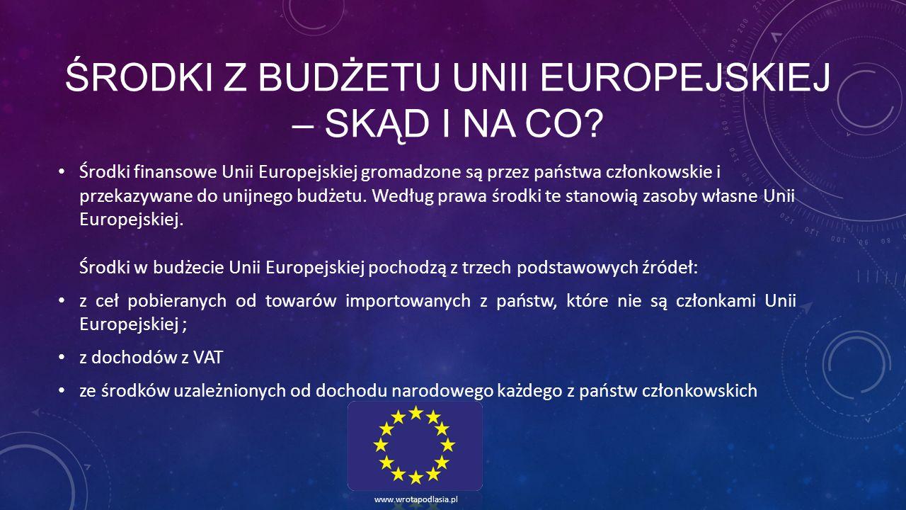 Środki z budżetu Unii Europejskiej – skąd i na co