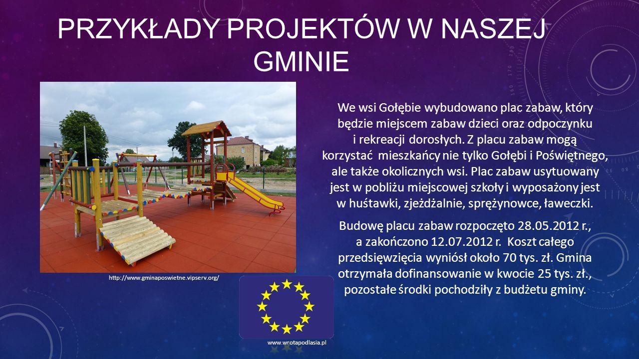 przykłady projektów w naszej gminie