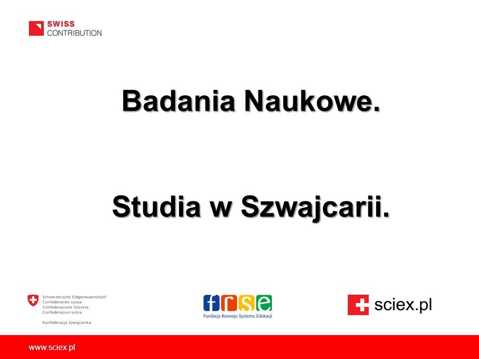 Badania Naukowe. Studia w Szwajcarii.
