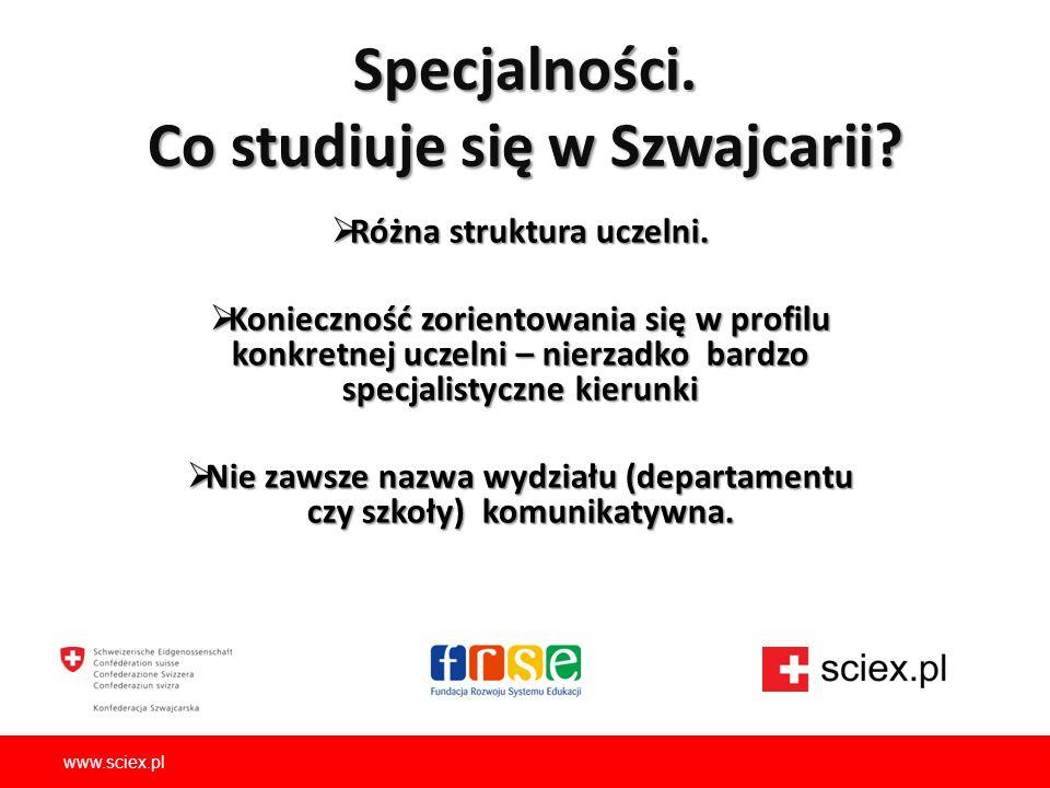 Specjalności. Co studiuje się w Szwajcarii
