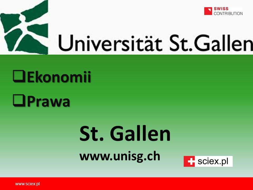 Ekonomii Prawa St. Gallen www.unisg.ch www.sciex.pl