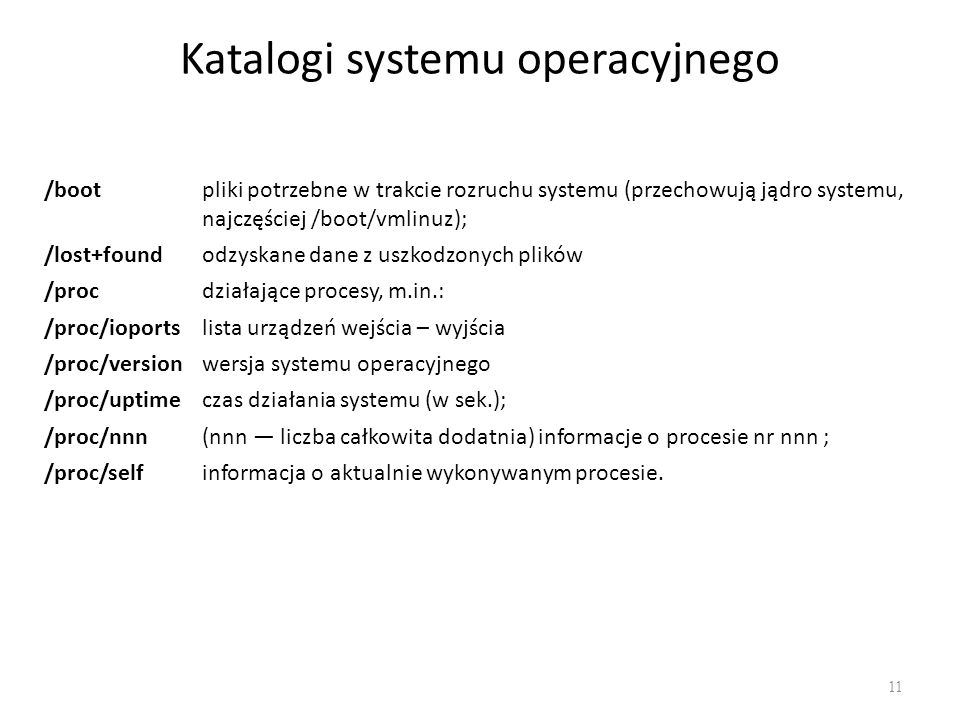 Katalogi systemu operacyjnego