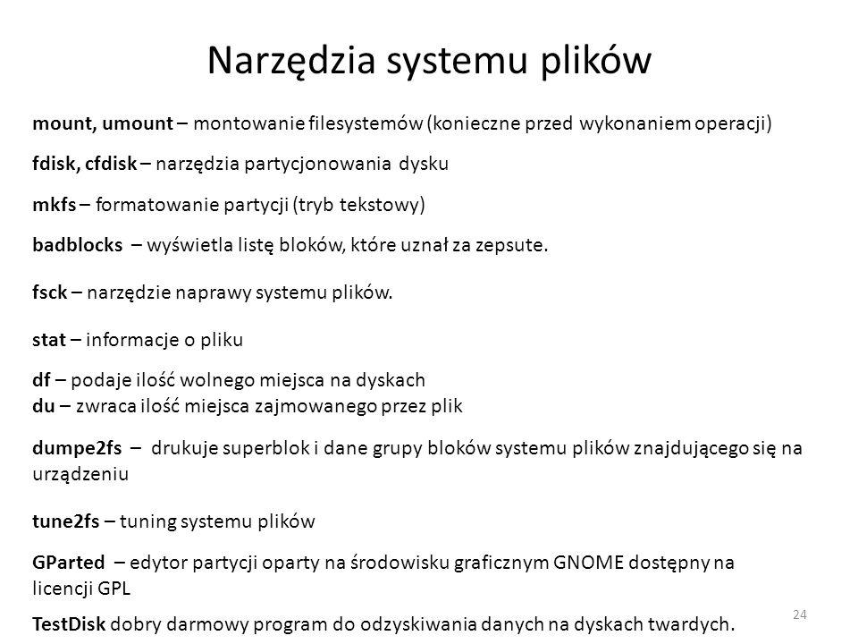 Narzędzia systemu plików