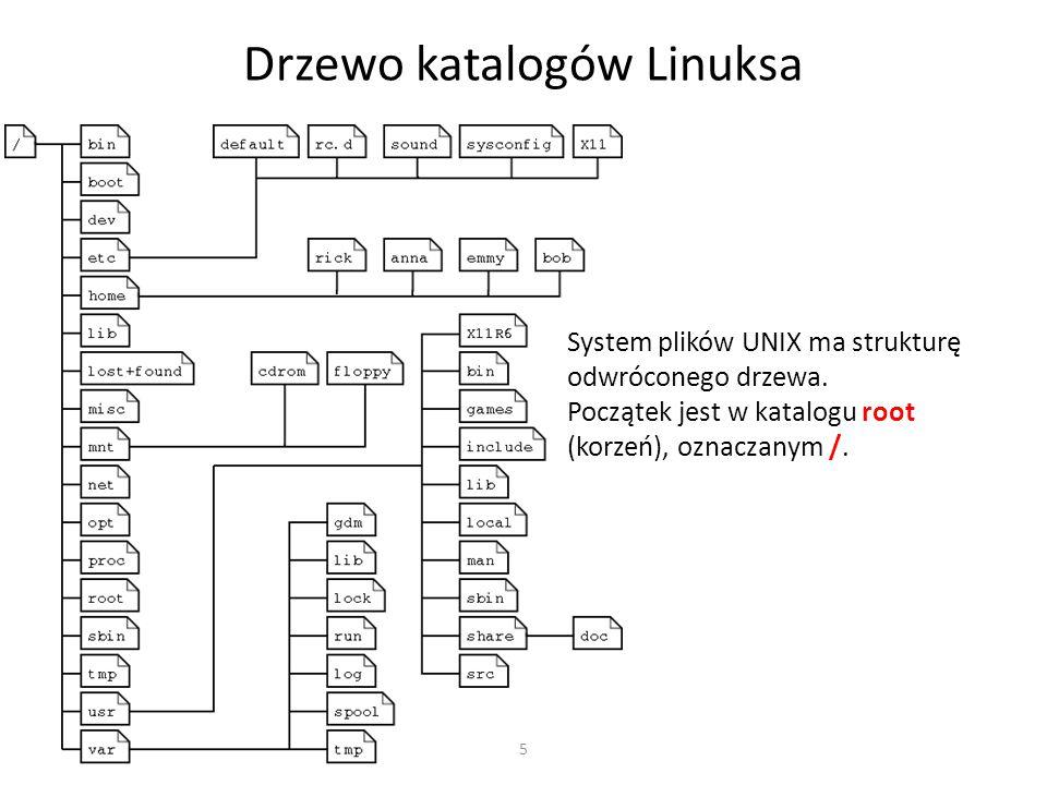 Drzewo katalogów Linuksa