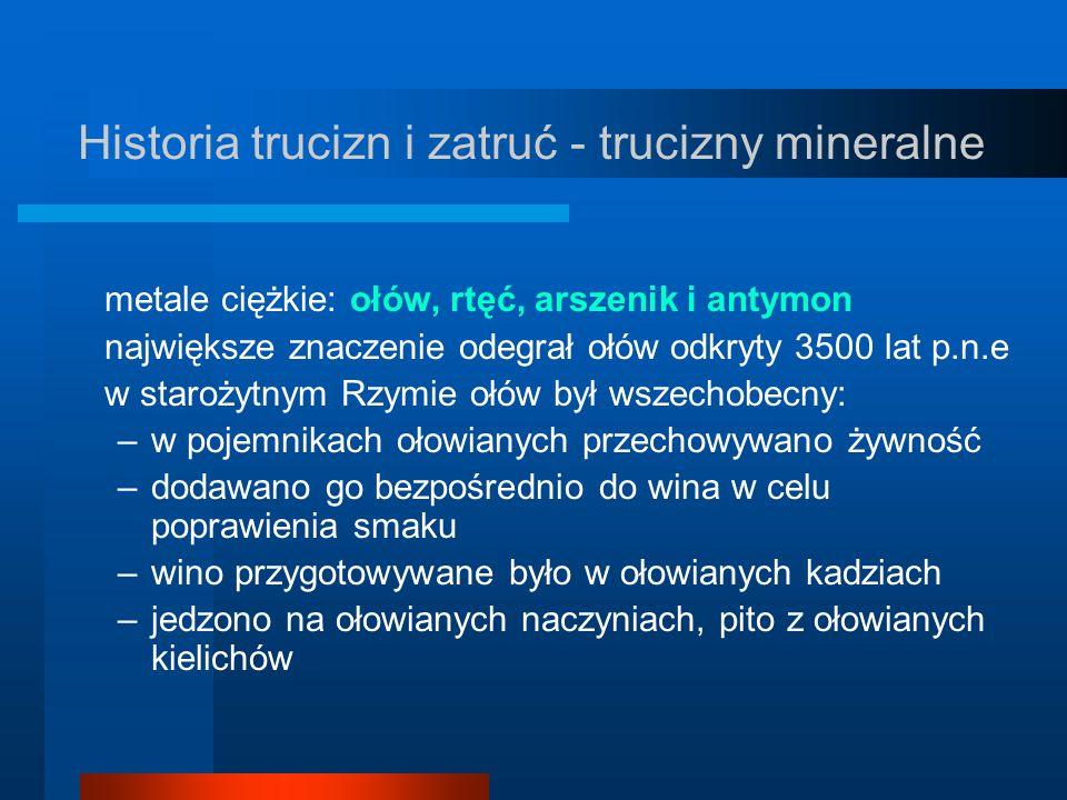 Historia trucizn i zatruć - trucizny mineralne