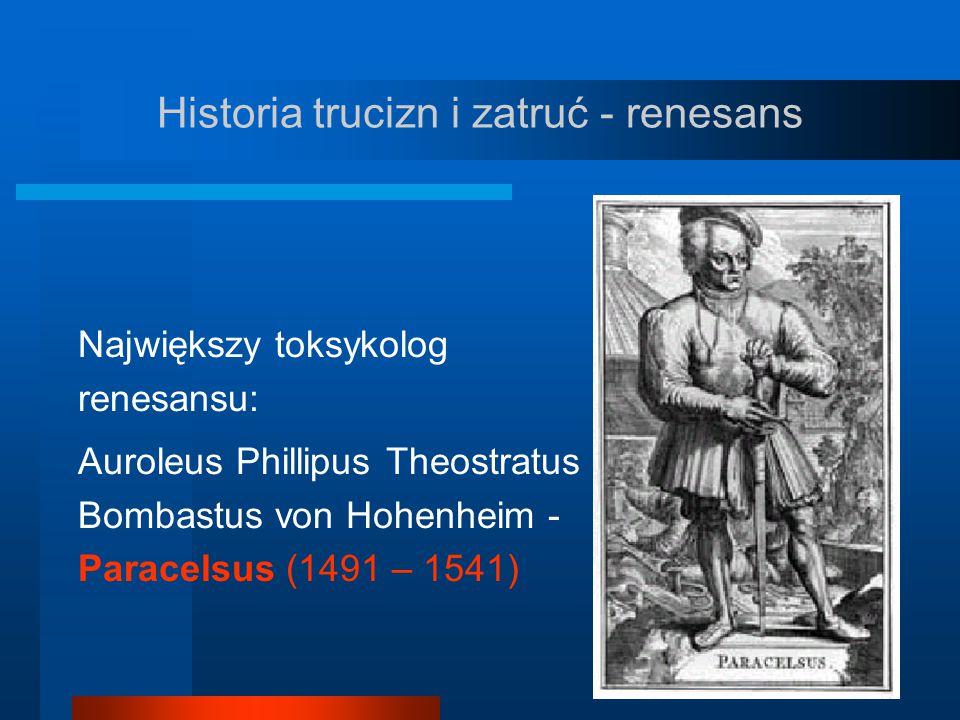 Historia trucizn i zatruć - renesans