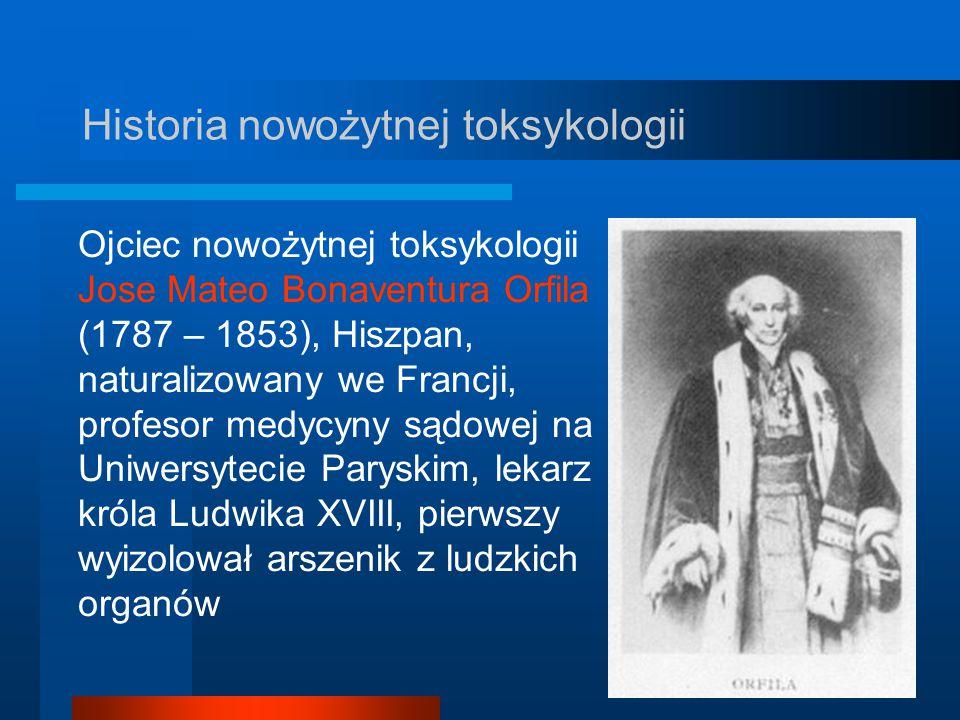 Historia nowożytnej toksykologii