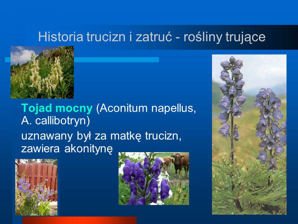 Historia trucizn i zatruć - rośliny trujące