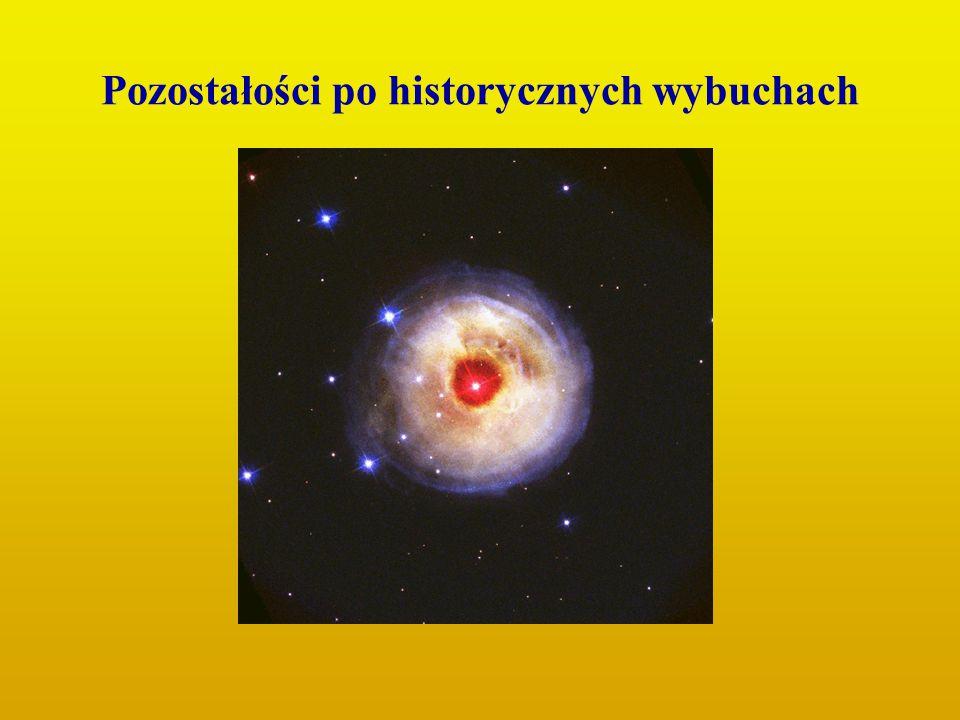 Pozostałości po historycznych wybuchach