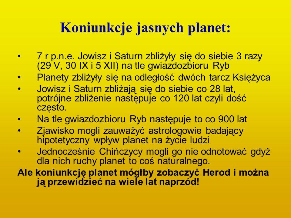 Koniunkcje jasnych planet: