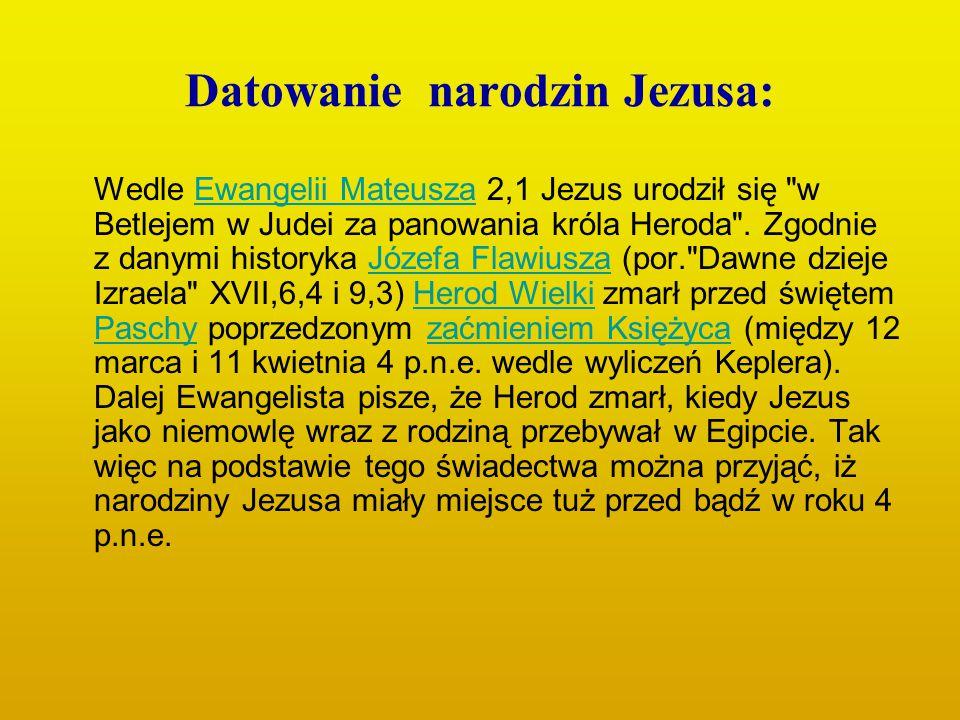 Datowanie narodzin Jezusa: