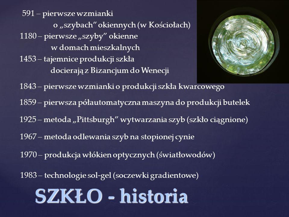 SZKŁO - historia 591 – pierwsze wzmianki
