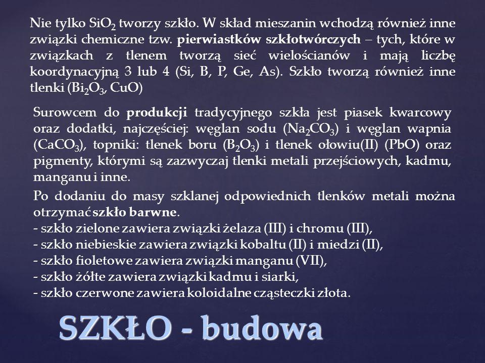 Nie tylko SiO2 tworzy szkło