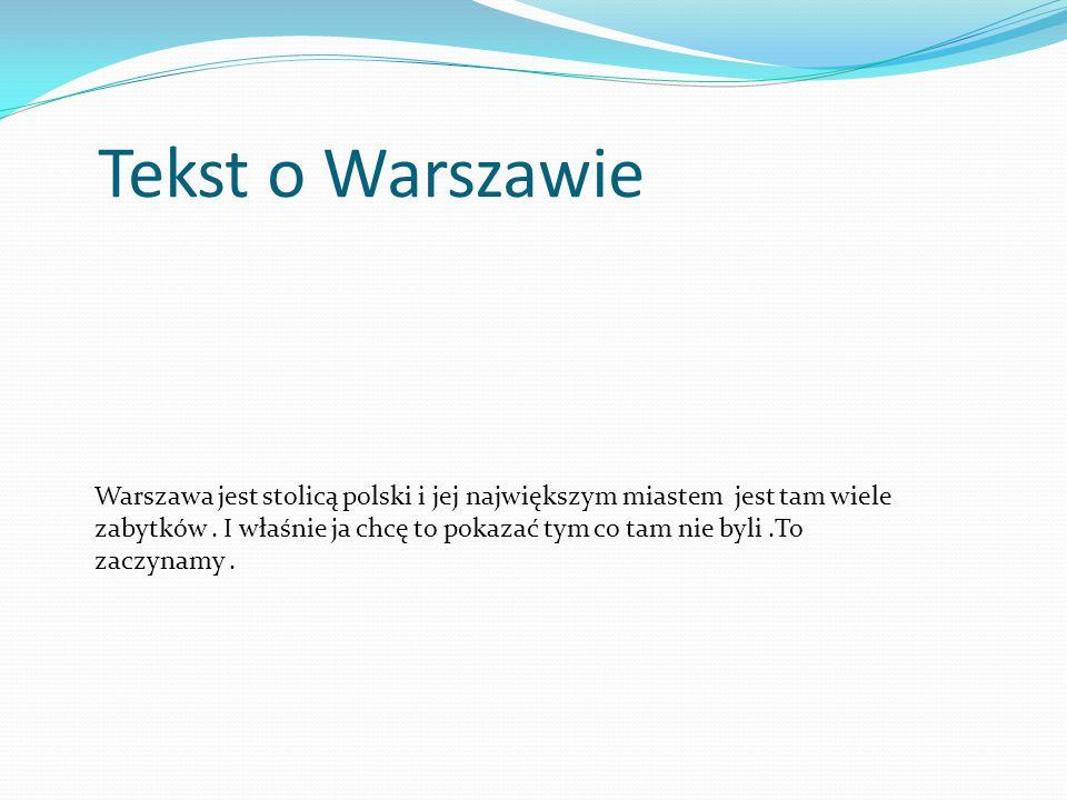 Tekst o Warszawie