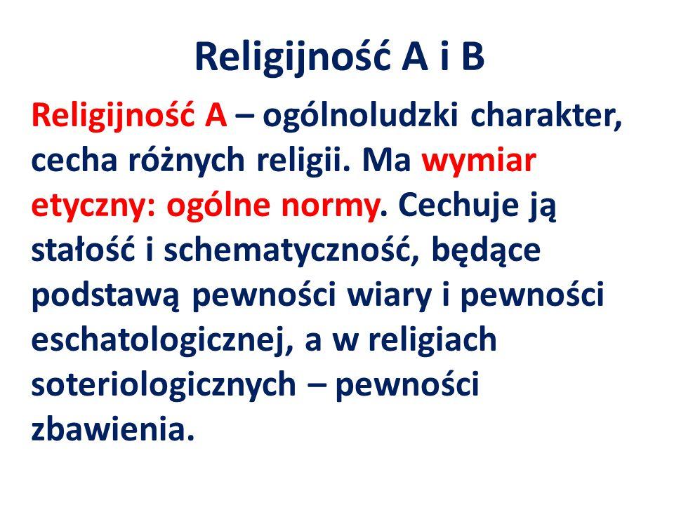 Religijność A i B
