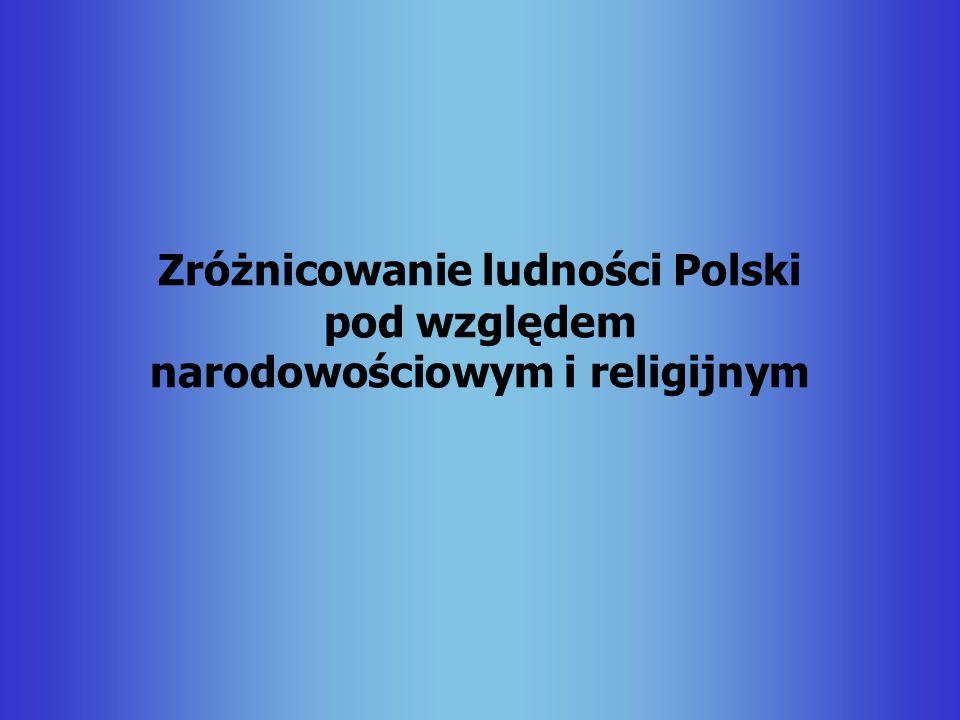 Zróżnicowanie ludności Polski pod względem narodowościowym i religijnym