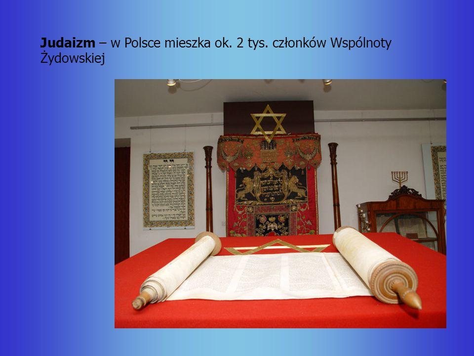 Judaizm – w Polsce mieszka ok. 2 tys. członków Wspólnoty Żydowskiej