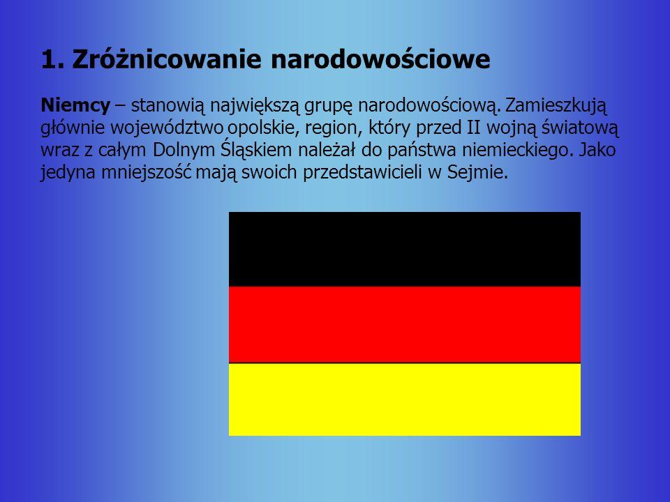 1. Zróżnicowanie narodowościowe
