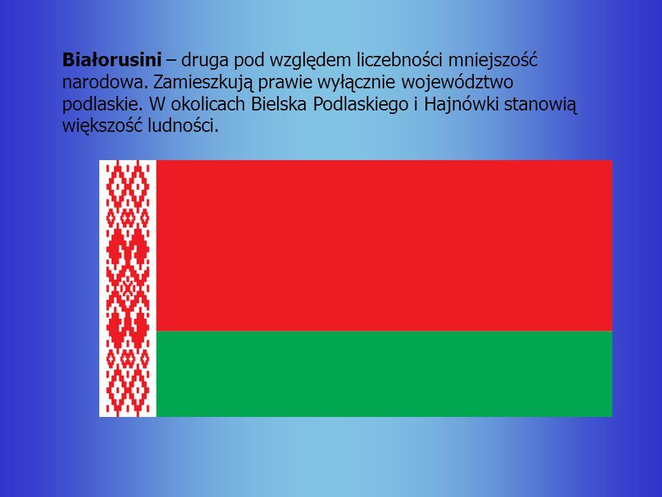 Białorusini – druga pod względem liczebności mniejszość narodowa