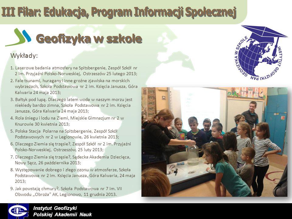 III Filar: Edukacja, Program Informacji Społecznej